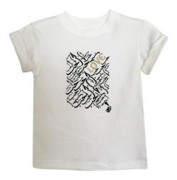 Girl's White Love Graphic Short Sleeve Tshirt
