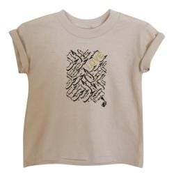 Girl's Khaki Love Graphic Short Sleeve Tshirt