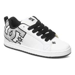Men's DC Shoes Court Graffik SE White/White Print