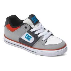 Boys' DC Shoes Pure Grey/Black/Red