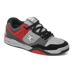 Men's DC Shoes Stag 2 Skate Shoe Grey/Grey/Red