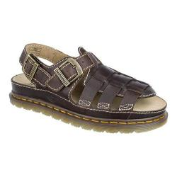 Men's Dr. Martens 8092 Fisherman Sandal Dark Brown Grizzly