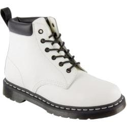 Dr. Martens Saxon 939 6 Eye Padded Collar Boot White Smooth