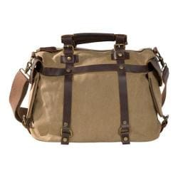 Laurex Canvas Duffle Bag with Leather Trim 1229 Khaki