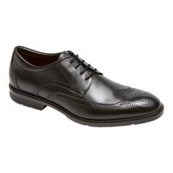 Men's Rockport City Smart Wing Tip Oxford Black Leather