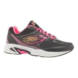 Women's Fila Inspell 3 Running Shoe Black/Knockout Pink/Safety Yellow