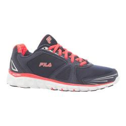 Women's Fila Memory Solidarity Running Shoe Fila Navy/Fiery Coral/White