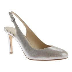 Women's Nine West Holiday Slingback Light Silver Metallic