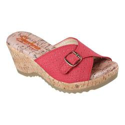 Women's Skechers Bohemias Slide Wedge Sandal Red