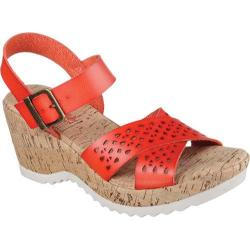 Women's Skechers Bohemias Urban Pixie Wedge Sandal Red