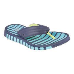 Women's Skechers GO FLEX Vitality Flip Flop Sandal Navy/Blue