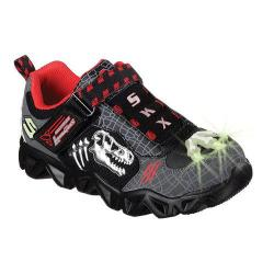 Boys' Skechers Hot Lights Datarox Extinct Charcoal/Black