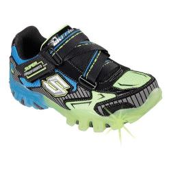 Boys' Skechers Magic Lites Street Lightz Bolterz Sneaker Black/Blue/Lime