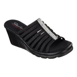 Women's Skechers Promenade Bewitched Slide Wedge Sandal Black