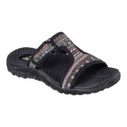 Women's Skechers Reggae Ethnic Vibes Slide Sandal Black/Multi