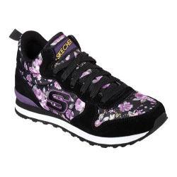 Women's Skechers Retros OG 85 Hollywood Rose High Top Black/Purple