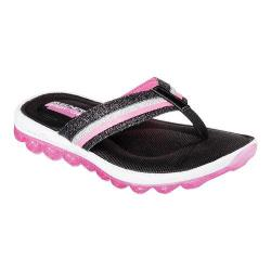 Girls' Skechers Skech-Air Summer Shine Flip Flop Sandal Black/Hot Pink