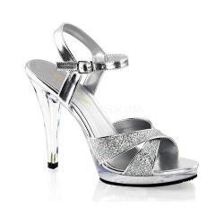Women's Fabulicious Flair 419G Silver Multi Glitter/Clear