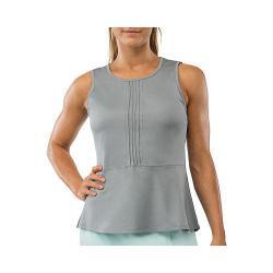 Women's Fila Net Set Peplum Top Light Grey