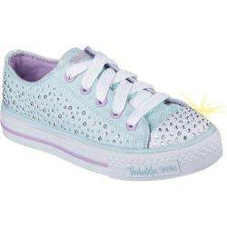 Girls' Skechers Twinkle Toes Shuffles Sparkle Wishes Sneaker Light Blue/Lavendar