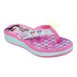 Girls' Skechers Twinkle Toes Sunshines Beach Life Flip Flop Sandal Aqua/Pink
