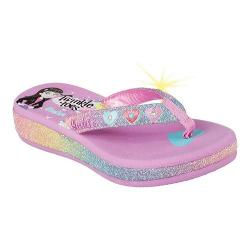 Girls' Skechers Twinkle Toes Sunshines Summer Stories Lavender/Multi