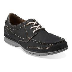 Men's Clarks Rattlin Deck Black Nubuck