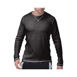 Men's Fila Stoke Waffle Long Sleeve Crew Black/Highrise