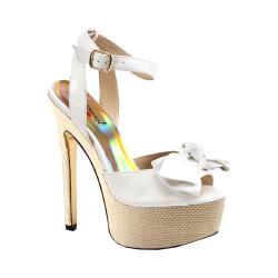 Women's Luichiny Love Potion Stiletto Sandal White Imi Leather