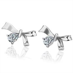 18K White Gold Bow-Tie Earrings Made with Swarovksi Elements only only from Rubique Jewelry Jewelry
