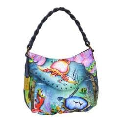 Women's Anuschka Ruched Multi-Pocket Hobo Ocean Treasures