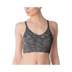 Women's Fila Seamless Space Dye Cami Bra Black Space Dye/Slate Grey