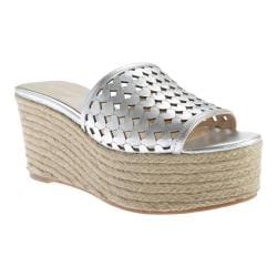 Women's Nine West Ertha Espadrille Silver Metallic