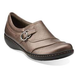 Women's Clarks Ashland Indigo Pewter Leather