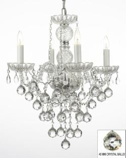 New! Authentic All Crystal Chandelier Lighting with 40mm Crystal Balls