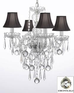 ALL CRYSTAL CHANDELIER LIGHTING WITH 40MM CRYSTAL BALLS & CRYSTAL ICICLES