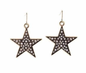 Rhinestone Pave Star Earrings