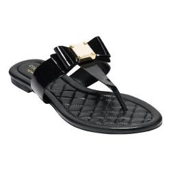 Women's Cole Haan Tali Bow Thong Sandal Black Patent