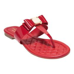 Women's Cole Haan Tali Bow Thong Sandal Tango Red Patent