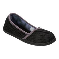 Women's Dearfoams Active Mesh Asymmetrical Espadrille Slipper Black