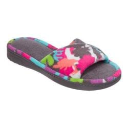 Women's Dearfoams Twist Vamp Print Slide Slipper Excalibur