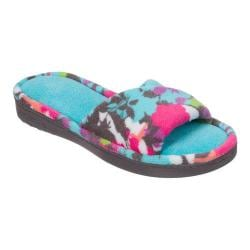 Women's Dearfoams Twist Vamp Print Slide Slipper Riptide