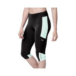 Women's Fila Sunset Tight Capri Black/Apple Chew