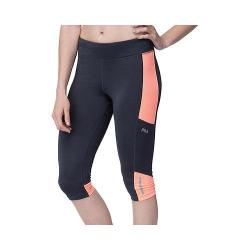 Women's Fila Sunset Tight Capri Ebony/Furo Coral