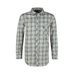 Men's Propper Covert Button-Up Long Sleeve Shirt Loden Green Plaid