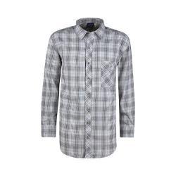 Men's Propper Covert Button-Up Long Sleeve Shirt Steel Grey Plaid