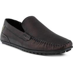 Men's Spring Step Oyster Loafer Black Leather