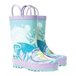 Girls' Western Chief Frozen Elsa & Anna Rain Boot Blue