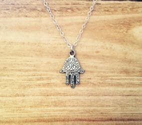 Dainty Silver Hamsa Necklace