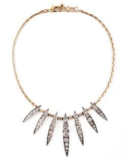 Rhinestone Crystal Marquis Statement Necklace